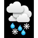 Pluie et neige mêlées
