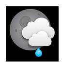 Averses de pluie locales et faibles