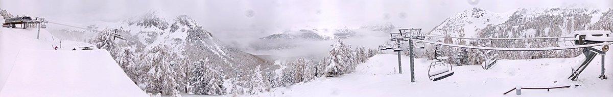 montgenevre 1er chute de neige